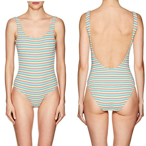 Onia Womens Kelly Rainbow Dots One Piece Swimsuit